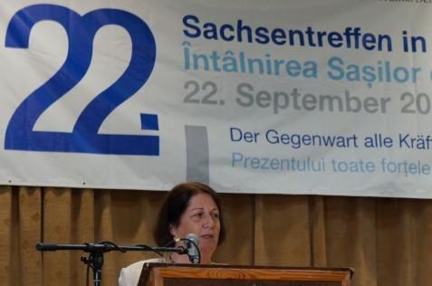 """Die diesjährige Festrede hielt Gerhild Rudolf, die Leiterin des Hermannstädter Kultur- und Begegnungszentrums """"Friedrich Teutsch""""."""